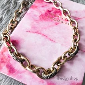 [Express] Pave Embellished Cable Link Necklace